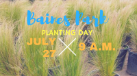 Planting at Baines Park