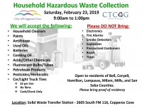 Copperas Cove Household Hazardous Waste Collection