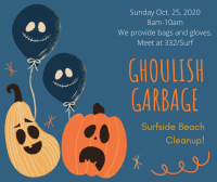 Surfside's Ghoulish Garbage Beach Cleanup