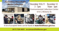 Mansfield Hazardous Household Waste Drop off  Events